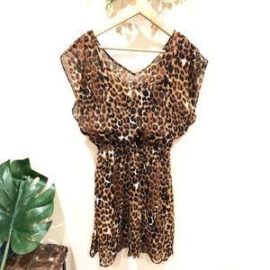 Express animal print mini dress Size XS